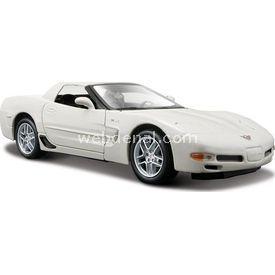 Maisto Corvette Z06 1:24 Model Araba S/e Beyaz Arabalar