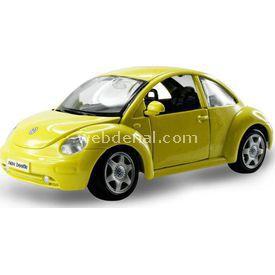 Maisto Volkswagen New Beetle 1:24 Model Araba S/e Sarı Arabalar