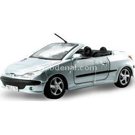 Maisto Peugeot 206cc 1:24 Model Araba S/e Gri Arabalar