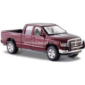 Maisto 2002 Dodge Ram Quad Cab 1:24 Model Araba S/e Bordo Arabalar