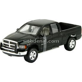 Maisto 2002 Dodge Ram Quad Cab 1:24 Model Araba S/e Siyah Arabalar
