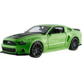 Maisto 2014 Ford Mustang Street Racer 1:24 Model Araba S/e Yeşil Arabalar
