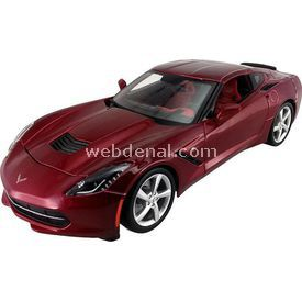 Maisto 2014 Corvette Stingray Coupe 1:24 Model Araba S/e Kırmızı Arabalar