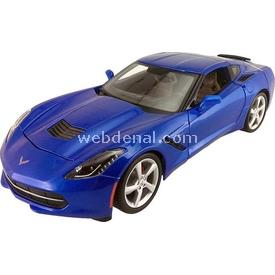 Maisto 2014 Corvette Stingray Coupe 1:24 Model Araba S/e Mavi Arabalar