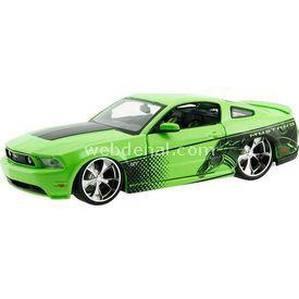 Maisto 2011 Ford Mustang Diecast Model Araba 1:24 Pro Rodz Yeşil Arabalar