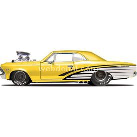 Maisto Chevrolet Chevelle Ss 1966 1:24 Model Araba P/r Sarı Arabalar
