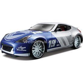 Maisto 2009 Nissan 370z 1:24 Model Araba Custom Shop Mavi Gri Arabalar