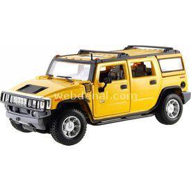 Maisto 2003 Hummer H2 Suv Araba 1:24 Model Araba S/e Sarı Arabalar