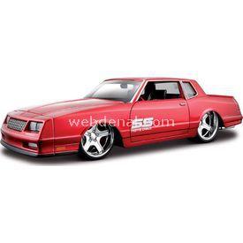Maisto 1986 Chevrolet Monte Carlo 1:24 Model Araba A/s Kırmızı Arabalar