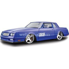 Maisto 1986 Chevrolet Monte Carlo 1:24 Model Araba Allstars Mavi Arabalar