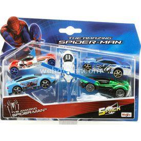 Maisto Spiderman Beşli Oyuncak Araba Özel Seti 1 Arabalar