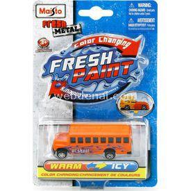 Maisto Metal Renk Değiştiren Araçlar School Bus Arabalar