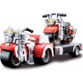 Maisto Harley Davidson Cycle Town Oyuncak Motor Seti Kırmızı Erkek Çocuk Oyuncakları