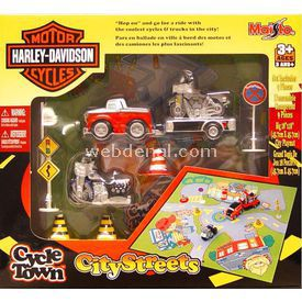 Maisto Harley-davidson City Streets Oyun Seti Kırmızı Beyaz Erkek Çocuk Oyuncakları