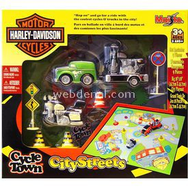 Maisto Harley-davidson City Streets Oyun Seti Yeşil Erkek Çocuk Oyuncakları