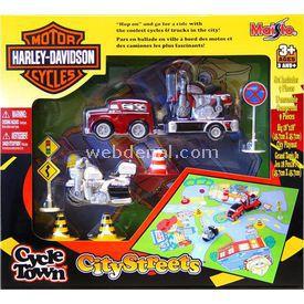 Maisto Harley-davidson City Streets Oyun Seti Kırmızı Erkek Çocuk Oyuncakları