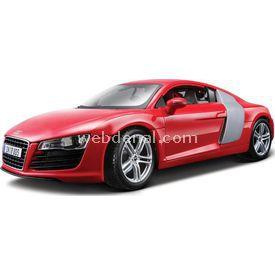 Maisto Audi R8 1:18 Model Araba P/e Kırmızı Arabalar