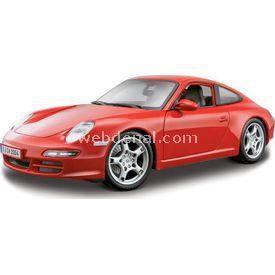 Maisto Porsche 911 Carrera S 1:18 Model Araba S/e Kırmızı Arabalar