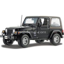 Maisto Wrangler Sahara Jeep 1:18 Model Araba S/e Siyah Arabalar