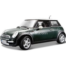 Maisto Mini Cooper Sun Roof 1:18 Model Araba S/e Yeşil Arabalar