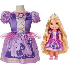 Jakks Pacific Disney Prenses Rapunzel Kostümlü Ve Bebek Seti Bebekler