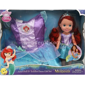 Jakks Pacific Disney Prenses Ariel Kostümlü Ve Bebek Seti 2 - 4 Yaş Bebekler