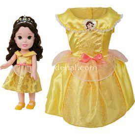 Jakks Pacific Disney Prenses Belle Kostümlü Ve Bebek Seti 2-4 Yaş Bebekler