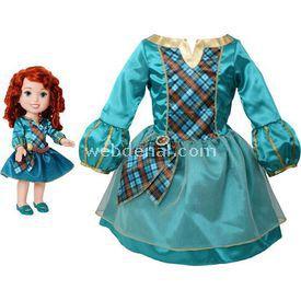 Jakks Pacific Disney Prenses Merida Kostümlü Ve Bebek Seti 2-4 Yaş Bebekler