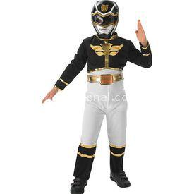 Rubies Power Rangers Siyah Çocuk Kostümü 5-6 Yaş Kostüm & Aksesuar