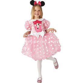 Rubies Minnie Mouse Çocuk Kostüm 5-6 Yaş Pembe Glitz Kostüm & Aksesuar