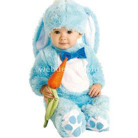 Rubies Mavi Tavşan Bebek Kostümü 6-12 Ay Kostüm & Aksesuar