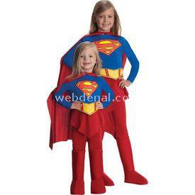 Rubies Super Girl Streç Kız Çocuk Kostümü 4-6 Yaş Kostüm & Aksesuar