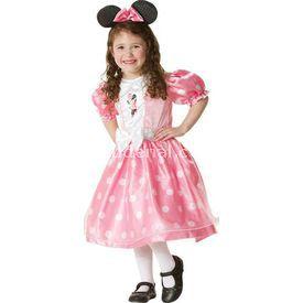 Rubies Minnie Mouse Pembe Lüks Çocuk Kostüm 7-8 Yaş Kostüm & Aksesuar