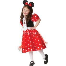 Rubies Minnie Lüks Çocuk Kostüm 3-4 Yaş Kostüm & Aksesuar