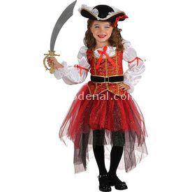 Rubies Prenses Korsan Kız Çocuk Kostümü Lüks 4-6 Yaş Kostüm & Aksesuar