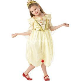 Rubies Prenses Belle Çocuk Kostüm Sparkle 3-4 Yaş Kostüm & Aksesuar