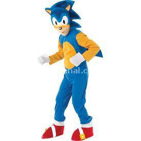 Rubies Sonic Çocuk Kostüm 5-6 Yaş Lüks Kostüm & Aksesuar