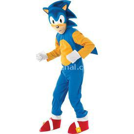 Rubies Sonic Çocuk Kostüm 7-8 Yaş Lüks Kostüm & Aksesuar