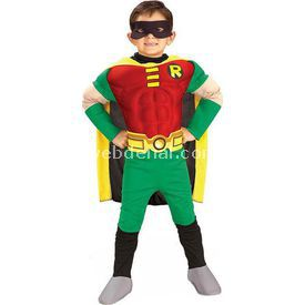 Rubies Teen Titan Robin Kostüm Lüks 4-6 Yaş Kostüm & Aksesuar