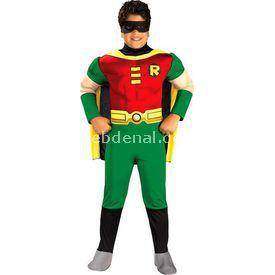 Rubies Teen Titan Robin Kostüm Lüks 12-14 Yaş Kostüm & Aksesuar