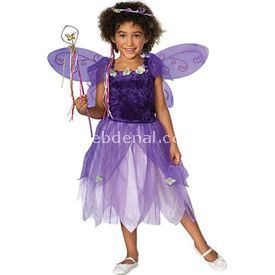 Rubies Peri Çocuk Kostümü Lüks 3-4 Yaş Kostüm & Aksesuar