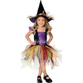 Rubies Renkli Cadı Kız Çocuk Kostümü 3-4 Yaş Kostüm & Aksesuar