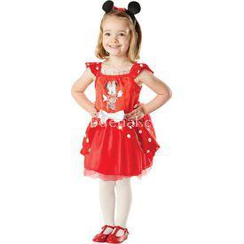 Rubies Minnie Kırmızı Balerin Çocuk Kostüm 2-3 Yaş Kostüm & Aksesuar