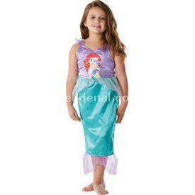 Rubies Deniz Kızı Prenses Ariel Klasik Çocuk Kostüm 3-4 Yaş Kostüm & Aksesuar