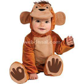 Rubies Neşeli Maymun Bebek Kostümü 6-12 Ay Kostüm & Aksesuar