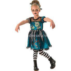 Rubies Frankie Girl Kız Çocuk Kostümü 3-4 Yaş Kostüm & Aksesuar