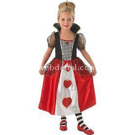 Rubies Kraliçe Kız Çocuk Kostümü Lüks 5-6 Yaş Kostüm & Aksesuar