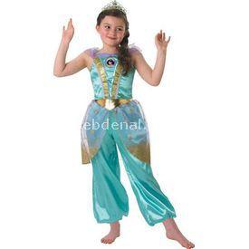 Rubies Prenses Jasmine Çocuk Kostüm 5-6 Yaş Glitter Kostüm & Aksesuar