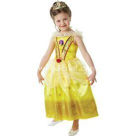 Rubies Prenses Belle Çocuk Kostüm 7-8 Yaş Glitter Kostüm & Aksesuar