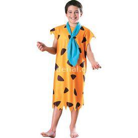 Rubies Taş Devri Fred Çocuk Kostüm 8-10 Yaş Kostüm & Aksesuar
